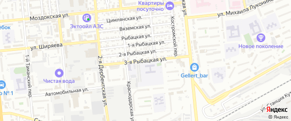3-я Рыбацкая улица на карте Астрахани с номерами домов