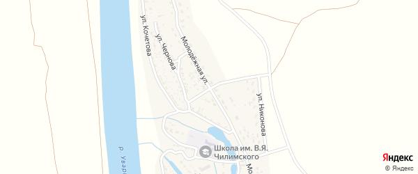 Молодежная улица на карте села Увары Астраханской области с номерами домов