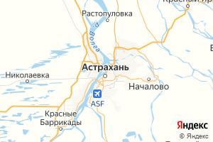 Карта г. Астрахань Астраханская область