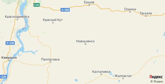 Карта Новоузенского района Саратовской области с городами и населенными пунктами