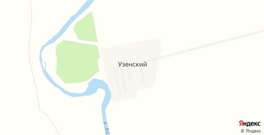 Карта поселка Узенский в Саратовской области с улицами, домами и почтовыми отделениями со спутника онлайн