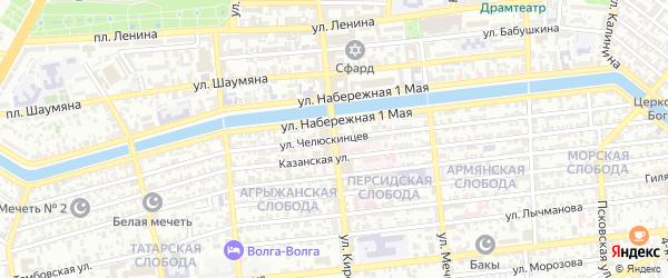 Улица Кирова на карте Астрахани с номерами домов