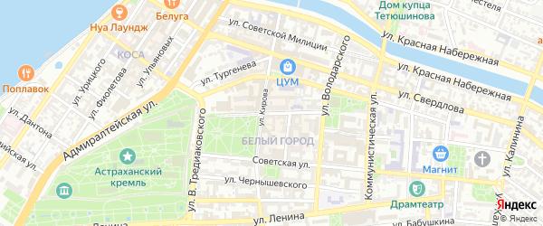 Ахматовская улица на карте Астрахани с номерами домов
