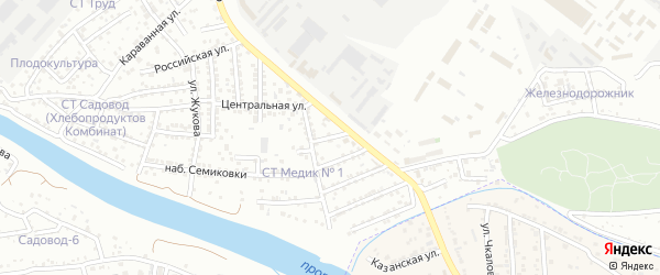 Аграрная улица на карте Астрахани с номерами домов