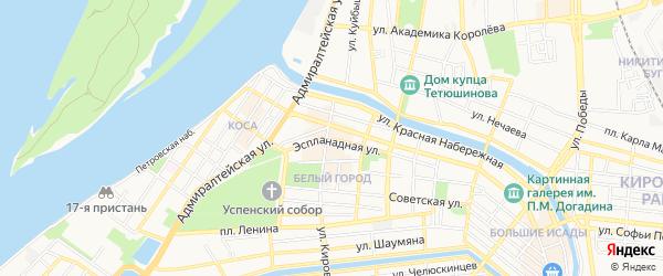 Садовое товарищество Судостроитель-56А на карте Астрахани с номерами домов