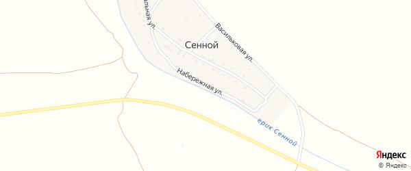 Набережная улица на карте Сенного поселка с номерами домов