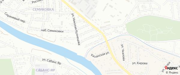 Травинский 1-й переулок на карте Астрахани с номерами домов