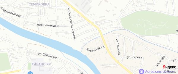 2-й Травинский переулок на карте Астрахани с номерами домов