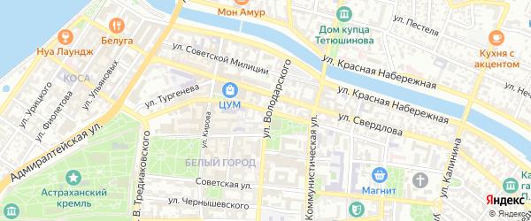 Эспланадная улица на карте Астрахани с номерами домов