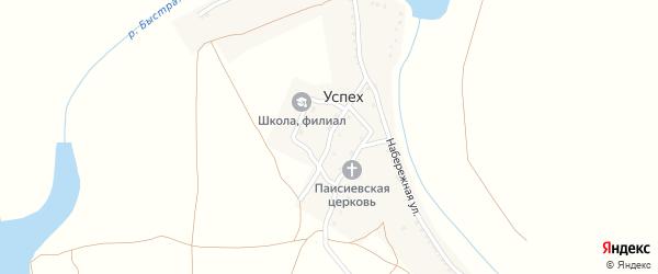 Дорожная улица на карте поселка Успеха Астраханской области с номерами домов