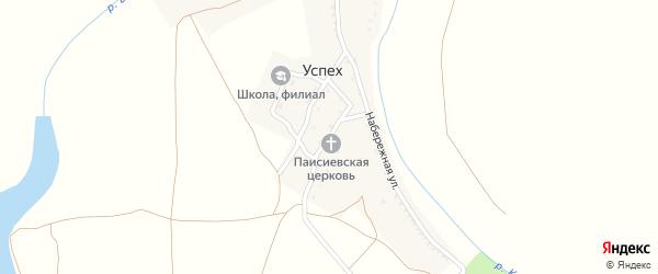 Садовая улица на карте поселка Успеха Астраханской области с номерами домов