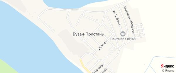 Первомайская улица на карте поселка Бузана-Пристаня Астраханской области с номерами домов
