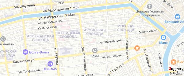 Гилянская улица на карте Астрахани с номерами домов