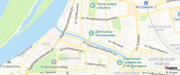 ГСК Нефтяник на карте Астрахани с номерами домов