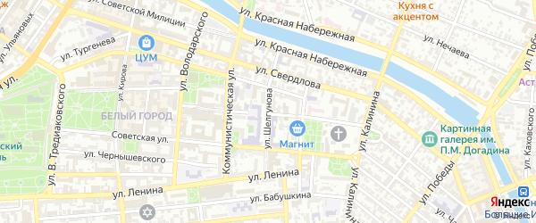 Улица Шелгунова на карте Астрахани с номерами домов