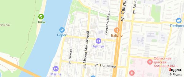 Улица Юрия Селенского на карте Астрахани с номерами домов
