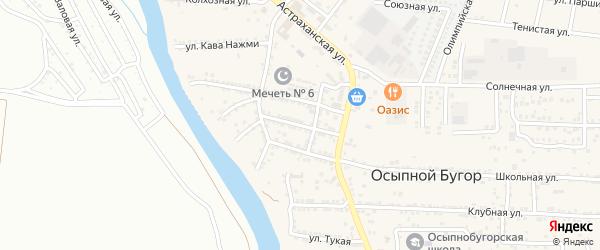 Первомайская улица на карте села Осыпного Бугра с номерами домов