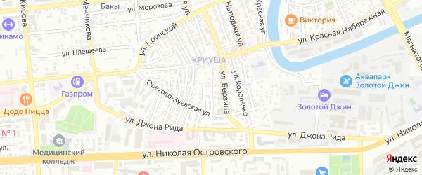 Улица Добролюбова на карте Астрахани с номерами домов