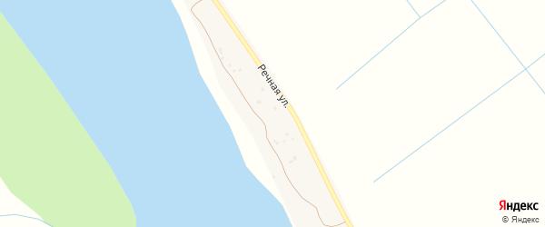 Речная улица на карте Белячьего поселка Астраханской области с номерами домов