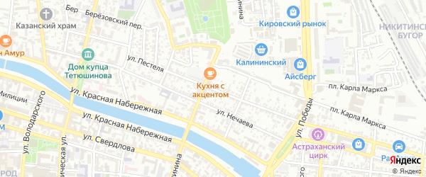 Улица Пестеля на карте Астрахани с номерами домов