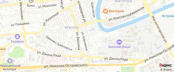 Улица Шевченко на карте Астрахани с номерами домов