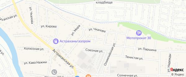 Вишневый переулок на карте села Осыпного Бугра с номерами домов
