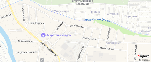 Строительная улица на карте Астрахани с номерами домов