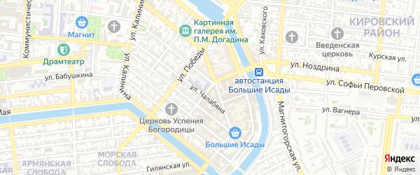 Улица Ногина на карте Астрахани с номерами домов