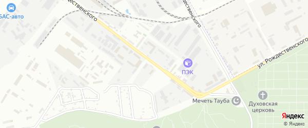 Улица Рождественского на карте промышленной зоны Кулаковского промузел Астраханской области с номерами домов