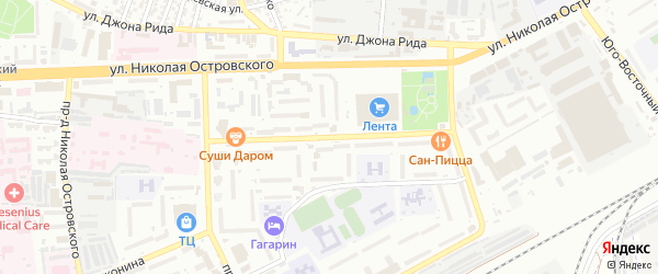 Улица Космонавтов на карте Астрахани с номерами домов