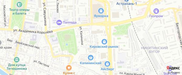 Привокзальная улица на карте Астрахани с номерами домов