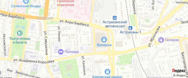 Завокзальная площадь на карте Астрахани с номерами домов