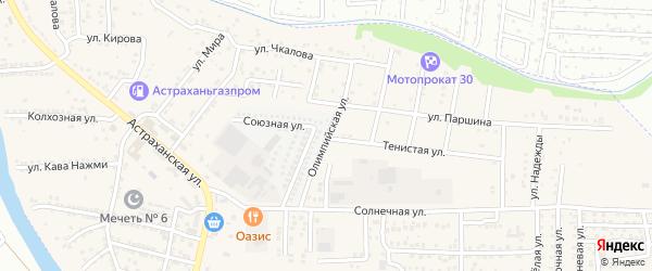 Олимпийская улица на карте села Осыпного Бугра с номерами домов
