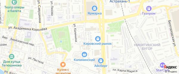 Улица Демидова на карте Астрахани с номерами домов