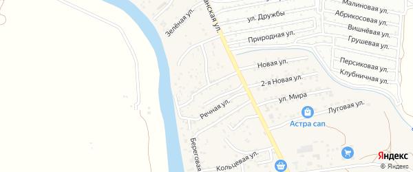 Земляничная улица на карте поселка Кирпичного Завода N1 Астраханской области с номерами домов