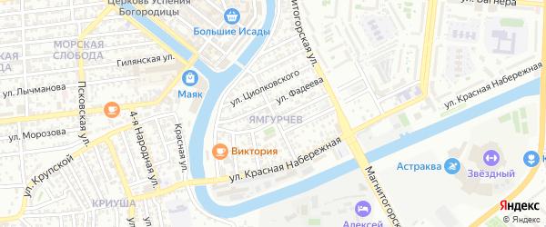 Улица Огарева на карте Астрахани с номерами домов