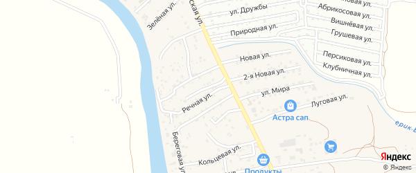 2-я Дачная улица на карте поселка Кирпичного Завода N1 Астраханской области с номерами домов
