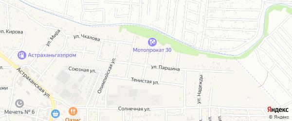 Улица Победы на карте села Осыпного Бугра с номерами домов