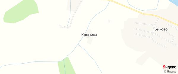 Карта деревни Крючихи в Архангельской области с улицами и номерами домов