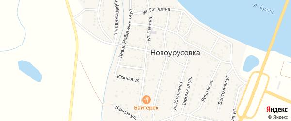 Улица Ленина на карте села Новоурусовки с номерами домов