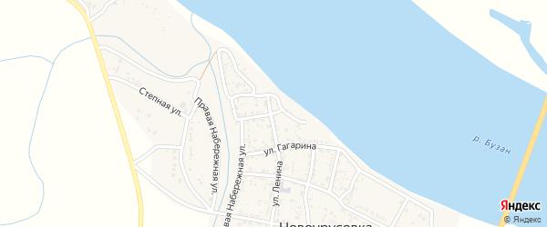 Улица Гоголя на карте села Новоурусовки Астраханской области с номерами домов