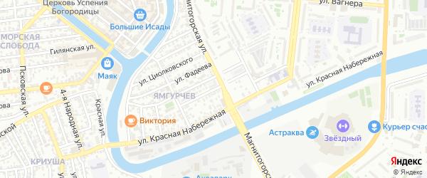 Туркестанская улица на карте Астрахани с номерами домов