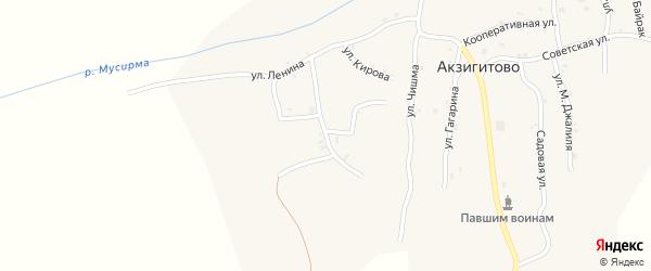 Тукая улица на карте села Акзигитово Татарстана с номерами домов