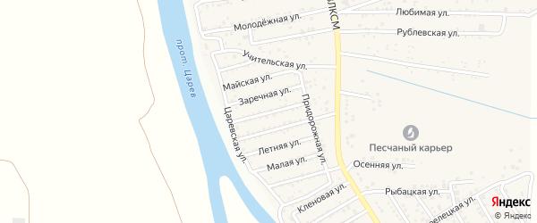 Тинакская улица на карте поселка Кирпичного Завода N1 Астраханской области с номерами домов