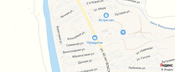 Короткая улица на карте поселка Кирпичного Завода N1 Астраханской области с номерами домов