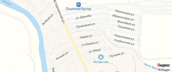 Новая улица на карте поселка Кирпичного Завода N1 Астраханской области с номерами домов