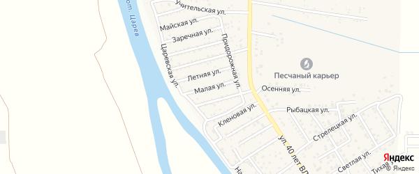 Малая улица на карте поселка Кирпичного Завода N1 Астраханской области с номерами домов