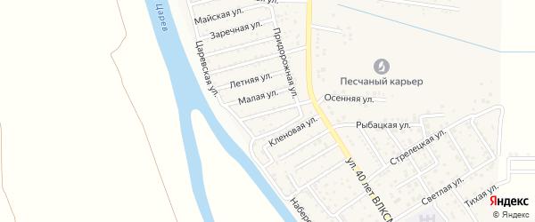 Мелиоративная улица на карте поселка Кирпичного Завода N1 Астраханской области с номерами домов
