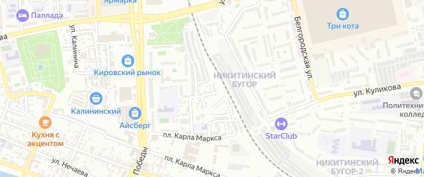 Татарский переулок на карте Астрахани с номерами домов