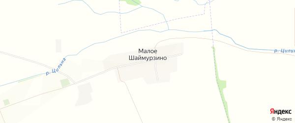 Карта деревни Малое Шаймурзино в Татарстане с улицами и номерами домов